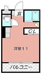 メゾン東武三萩野[606号室]の間取り