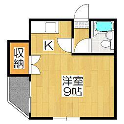 メゾン福島[4A号室]の間取り