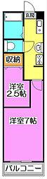 メゾンドELLE V (メゾンドエルファイブ)[2階]の間取り