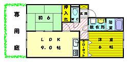 サンハイム田熊[1階]の間取り