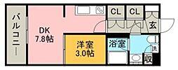 パークアクシス博多美野島[10階]の間取り