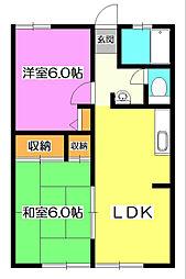 シャーメゾンMOA[2階]の間取り