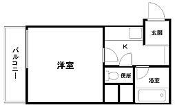 プレステージフジ久米田壱番館[302号室]の間取り