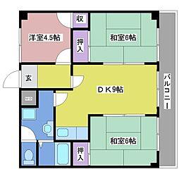 シャトラン藤江[3階]の間取り