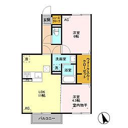 (仮)D−room富士見町 B棟[101号室]の間取り