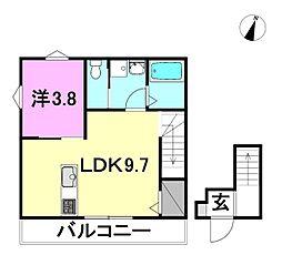 ヴェルグレーヴィア堀江プレミアム 2階1LDKの間取り