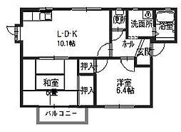 兵庫県高砂市今市1丁目の賃貸アパートの間取り