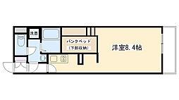 兵庫県西宮市日野町の賃貸アパートの間取り