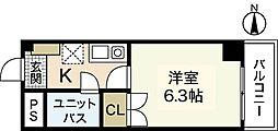 広島県広島市西区横川町2丁目の賃貸マンションの間取り