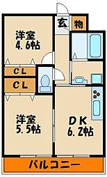 GLA東人丸[2階]の間取り