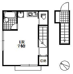 兵庫県神戸市兵庫区下祇園町の賃貸アパートの間取り