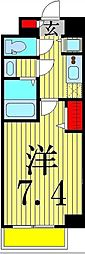 Apartment桜[4階]の間取り