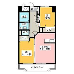 ホープ花屋敷[2階]の間取り