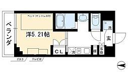 カレッジコート京都堀川今出川 3階1Kの間取り