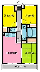 成瀬マンション[305号室]の間取り