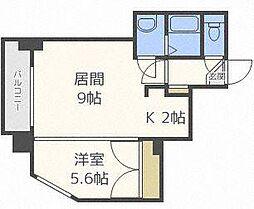 北海道札幌市北区北二十三条西8丁目の賃貸マンションの間取り