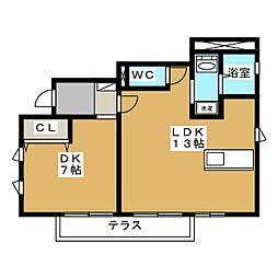 シャトーレ・ヤハタ[1階]の間取り