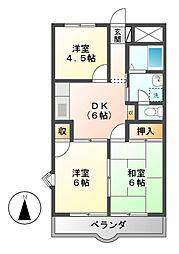 熊澤コーポ[2階]の間取り