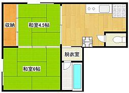 アストレアマンション[1階]の間取り
