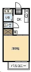 コーポ石野[102号室]の間取り