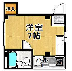 泉尾ハイム[3階]の間取り