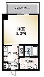 江ノ島電鉄 柳小路駅 徒歩5分の賃貸マンション 2階ワンルームの間取り