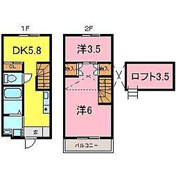 [テラスハウス] 愛知県刈谷市板倉町3丁目 の賃貸【愛知県 / 刈谷市】の間取り