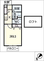 ラフェ・クレール[1階]の間取り