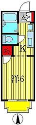 MBSハイツ北小金[2階]の間取り