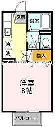 セジュール野殿[2階]の間取り