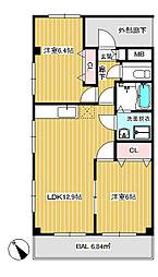 レーベンシュロス生田[3階]の間取り