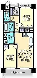 アルファステイツ中庄駅前II[203号室]の間取り