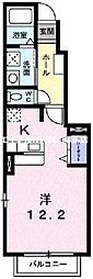 岡山県岡山市北区万成東町の賃貸アパートの間取り