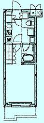 ルーブル溝の口伍番館 4階1Kの間取り