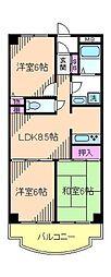 東京都北区豊島4丁目の賃貸マンションの間取り