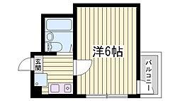 兵庫県明石市中朝霧丘の賃貸マンションの間取り