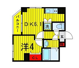 Terrace東浅草[701号室]の間取り