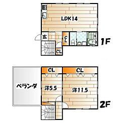 [一戸建] 福岡県北九州市門司区東門司1丁目 の賃貸【/】の間取り