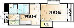 プレシード萩崎[7階]の間取り