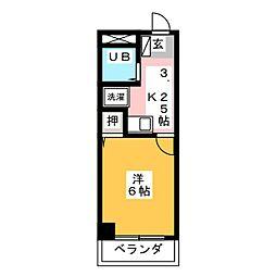 八木兵小田井ハウス[1階]の間取り
