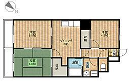 ゆざわマンション[2階]の間取り