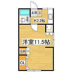 波多腰アパート[1階]の間取り