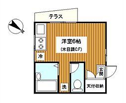 神奈川県鎌倉市岩瀬1丁目の賃貸アパートの間取り