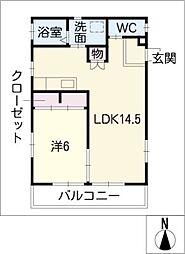 KU・RA・SO[2階]の間取り