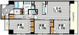 KWレジデンス日本橋[8階]の間取り
