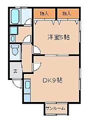 アイハウス[B号室]の間取り
