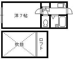 静岡県浜松市中区野口町の賃貸アパートの間取り