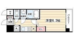プレサンス京都五条天使突抜[208号室]の間取り