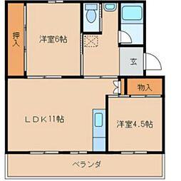 福岡県福岡市西区横浜2丁目の賃貸マンションの間取り