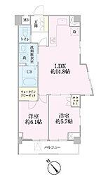 中新井サンライトマンション[401号室]の間取り
